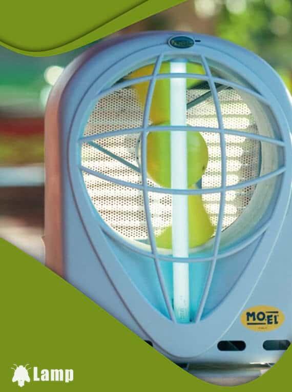 Инсектицидна лампа MO EL Kyoto 396A против мухи и комари допълнително изображение 1