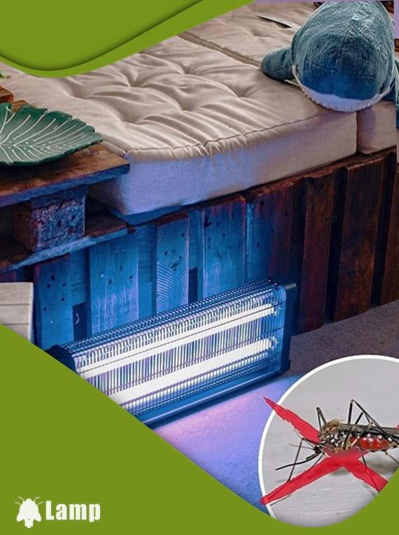 Инсектицидна лампа против комари и мухи GARDIGO FLUGINSEKTEN-VERNICHTER PROFI 2 X 20 W 150 кв.м. допълнително изображение 2