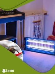 Инсектицидна лампа против комари и мухи GARDIGO FLUGINSEKTEN-VERNICHTER PROFI 2 X 20 W 150 кв.м. - 3