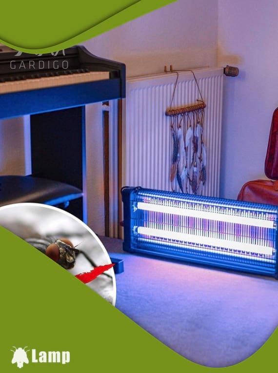 Инсектицидна лампа против комари и мухи GARDIGO FLUGINSEKTEN-VERNICHTER PROFI 2 X 20 W 150 кв.м. допълнително изображение 3