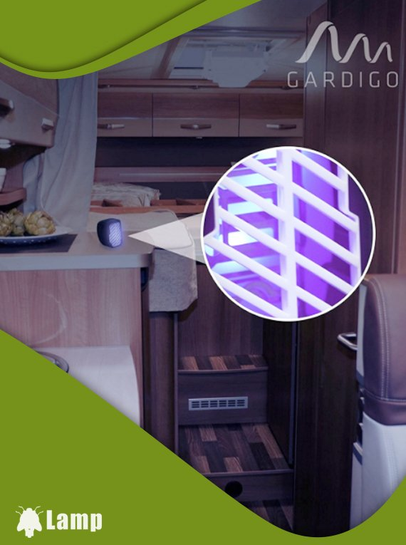Инсектицидна лампа против комари и мухи на батерии GARDIGO MOBILER UV-LIGHT допълнително изображение 3