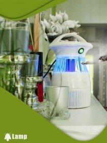 Инсектицидна лампа против комари и мухи с UV светлина и вентилатор GARDIGO